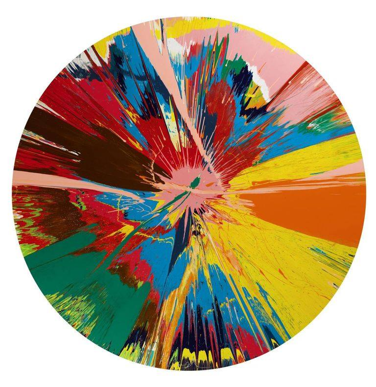 Beautiful-shattering-slashing-violent-pinky-hacking-sphincter-painting-Damien-Hirst-1995